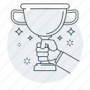 achievement, business, concept, goblet, winner icon