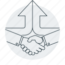 agreement, business, hands, handshake, partners icon