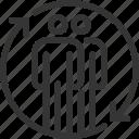 change, employee, exchange, refresh arrow, reload, renew, stick man icon