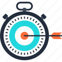 optimization, performance, speed, stopwatch, target, timer, web icon