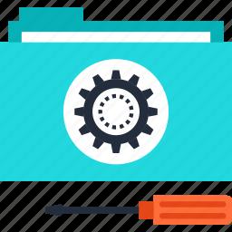 configuration, folder, options, repair, service, settings, technical icon