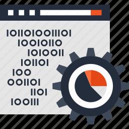chart, data, development, optimization, processing, seo, web icon