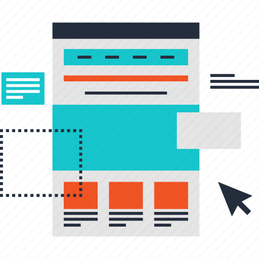 design, development, landing, layout, page, template, web icon