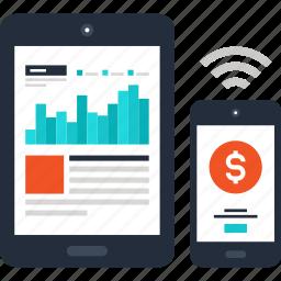 analysis, analytics, chart, graph, monitoring, online, statistics icon