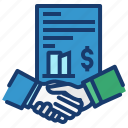 business, contract, deal, dealing, handshake, manage icon