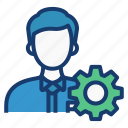 business, juristic, manage, management, skill icon