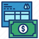 bill, money, pay, payment icon