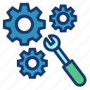 fix, fixing, manage, management, problems, resolving icon