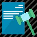 hammer, law, legal icon