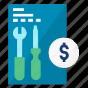 condominium, fee, fix, fixing, maintenance, manage, money icon