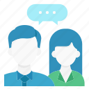 brainstorm, business, businessman, committee, discuss, meeting, talk icon