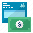bill, money, pay, payment, water icon