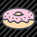 donut, doughnut, bakery, dessert, sweet