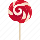 confectionery, lollipop, lolly, lollypop, sticky pop, sucker, swirl icon