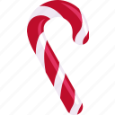candy cane, christmas, confectionery, peppermint stick, santa's cane, stick candy icon