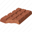 bar, block, candy, choco, chocolate, confectionery, milk chocolate icon