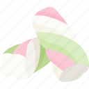 candy, confection, confectionery, marshmallow, marshmellow, twist icon