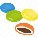beans, chocolate, confectionery, drops, m and m's, mnms, smarties icon