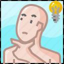 brainstorming, creative, design, idea, lamp, think, thinking icon