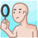chosen, human resources, loupe, person, recruitment, research, user icon