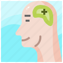 brain, creativity, head, idea, mind, positive, think icon