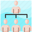 business, group, leader, leadership, networking, people, teamwork icon