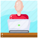 avatar, employee, job, man, routine, user, work icon