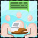 communication, man, meeting, people, sharing, talking, trading icon