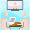business, ceremony, conference, finance, graduation, meeting, video icon