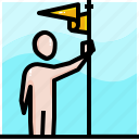 business, career, goal, growth, objective, success, target icon