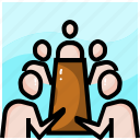 conference, meeting, sharing, table, talking, team, teamwork icon