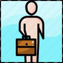 avatar, business, employer, job, man, person, work icon