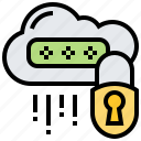 cloud, key, lock, password, security
