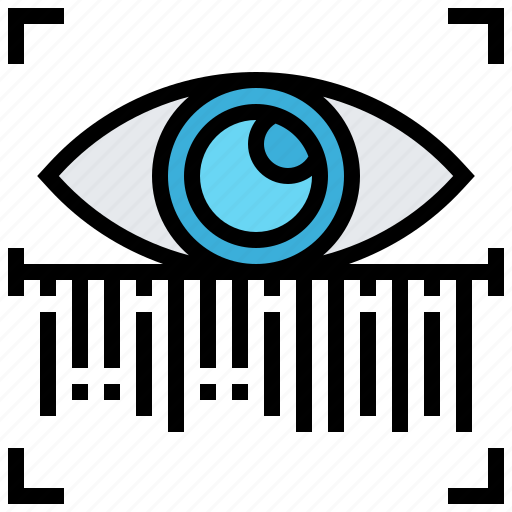 biometric, eye, protect, scan, secure icon