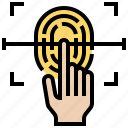 finger, print, protect, scan, secure icon