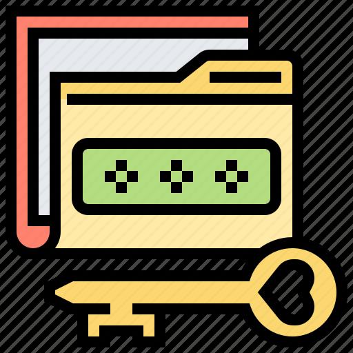 data, folder, key, password, secret icon