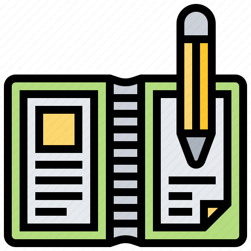 data, document, file, note, notebook icon