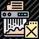 shredder, destroy, delete, information, confidentiality