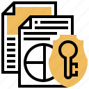 data, document, protect, safety, security icon