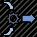 control, cope, management, arrangement, system icon