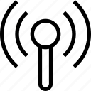 communication, information, share, signal, wireless icon
