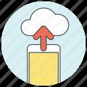 backup, cloud, data, database, icloud, storage, upload icon