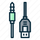 audio, jack, dual, cable, connector