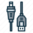 cable, connector, port, usb