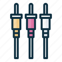 rca, connector, cable, connection