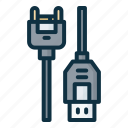 cable, usb, charger, connector