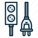 electrical, port, cable, connector, plug, socket