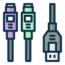 usb, ps2, cable, connector