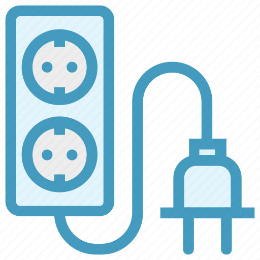 cable, connector, double, plug, socket icon