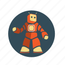 android, bot, computer, robot, science, shape, technology icon